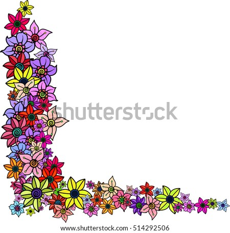 9f57bb079c592 Simple Pretty Floral Page Border Blank Stock Illustration - Royalty ...