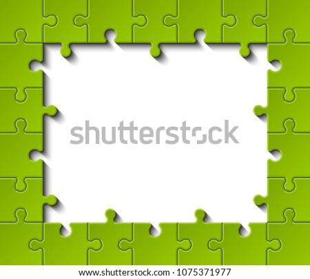 simple puzzle piece frame presentation circle stock illustration