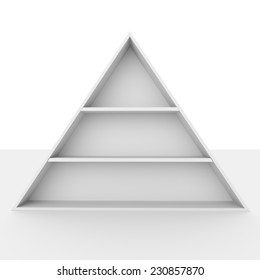 simple pyramid frame or shelf