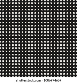 Simple raster geometric seamless pattern with tiny curved square shapes, regular grid, perforated surface. Abstract monochrome texture. Minimalist background. Repeat design for decor, textile, covers