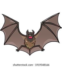 Simple and realistic bat illustration design