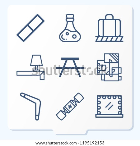 Simple Set 9 Icons Related Other Stock Illustration 1195192153