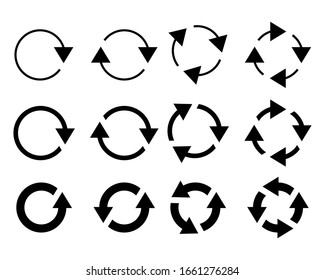 Simple set of  vector icons related to interface arrows.