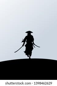 Simple Shadow Killer Ninja Illustration