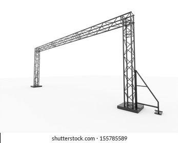 Simple stage construction rendered on perspective isolated