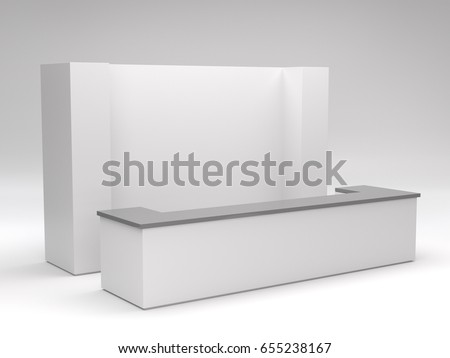 Royalty Free Stock Illustration of Simple Stand Booth Mockup 3 D