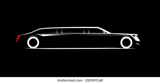 simple symbol corporate limousine