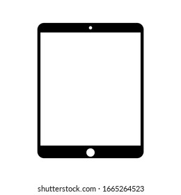Simple tablet icon with black style