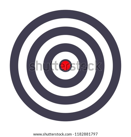 simple target template bullseye symbol stock illustration 1182881797