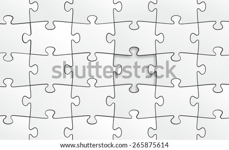 simple template many puzzle pieces stock illustration 265875614