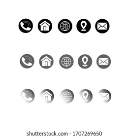 Simple thin Icons sets for business card and web