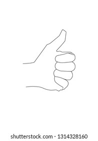 Simple thumb up drawing