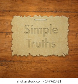 Simple truths on torn paper