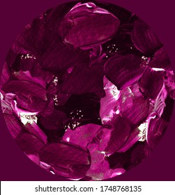 Simple violet abstract background with gemstones - ruby, garnet, tourmaline, alexandrite. Design for backgrounds, wallpapers, covers and packaging, wrapping paper.