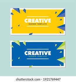 simple web banner design set