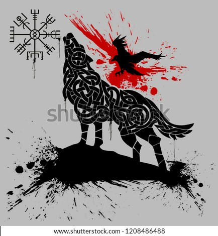Royalty Free Stock Illustration Of Simple Wolf Tattoo Design Stock