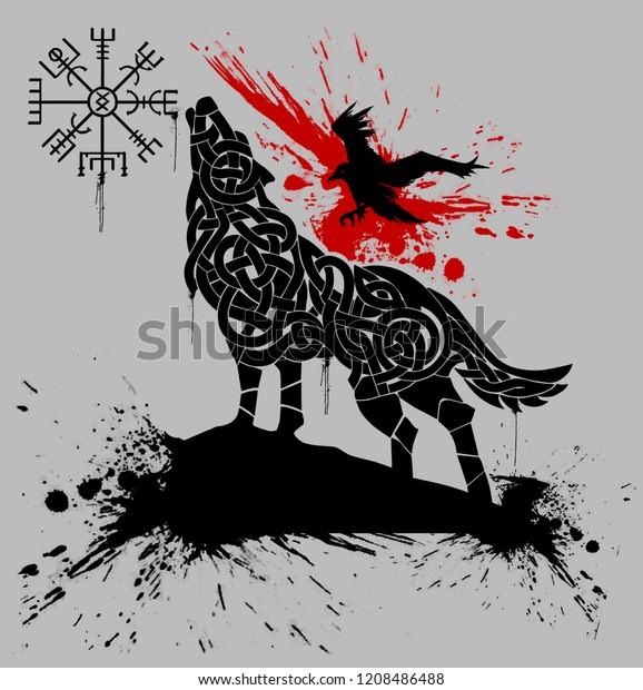 d4631c66a Simple Wolf Tattoo Design Stock Illustration 1208486488