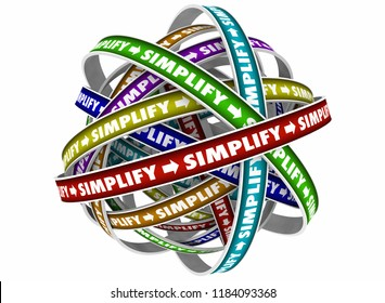 Simplify Make It Simple Easy Process 3d Illustration