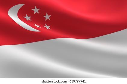 Singapore flag.