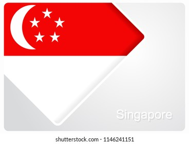 Singapore flag design background layout. Raster version.