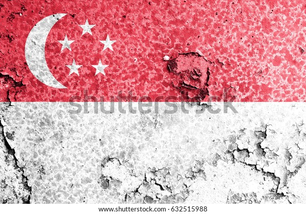 Singapore flag grunge background. Background for design in country flag