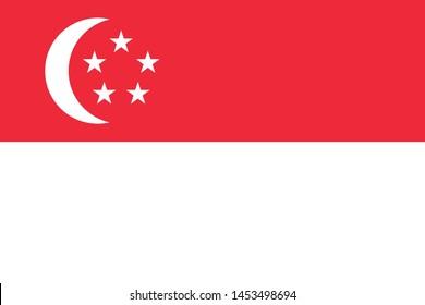 Singapore Flag  illustration,textured background, Symbols of  Singapore