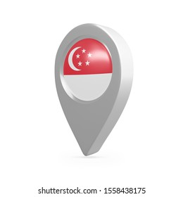 Singapore Frag Map Pointer, 3D Rendering.