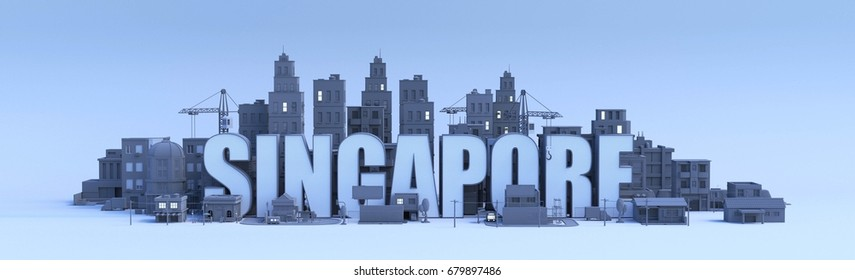 Singapore Skyline 3d Images, Stock Photos & Vectors | Shutterstock