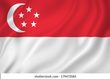 Singapore national flag background texture.