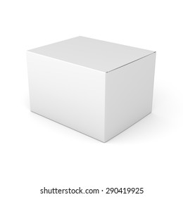single blank box product template