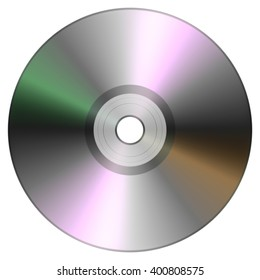 Single disc cd dvd isolated on white background.