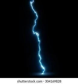 Single lightning strike