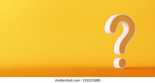 Single question mark, business concepts; original 3d rendering
