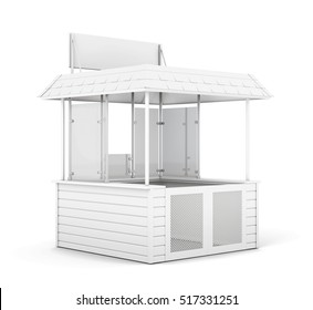 Single trade or promo counter isolated. 3d rendering.