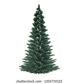 single tree Isolated on white background with clipping path - Illustration - 3d rendering