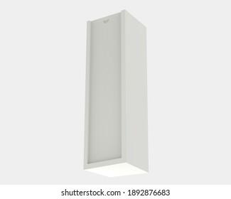 Single wine box isolated on grey background. 3d rendering - illustration