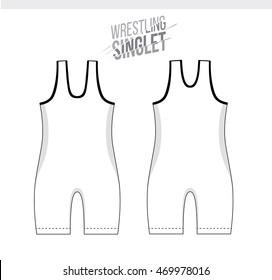 Wrestling Singlet Stock Illustrations Images Vectors