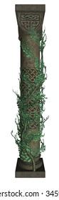 Singular column with vines
