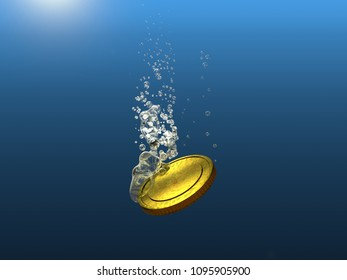 Sinking Gold Coin