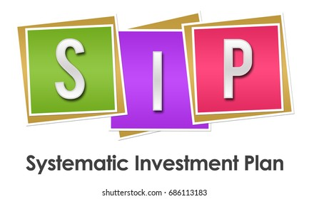 SIP - Systematic Investment Plan Colorful Blocks