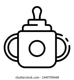 Sippy cup icon. Outline sippy cup icon for web design isolated on white background