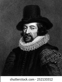 Sir Francis Bacon (1561-1626), engraving from 1738