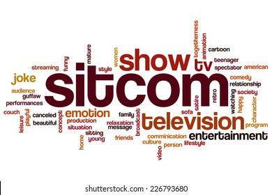 Sitcom word cloud concept