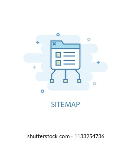 SiteMap concept trendy icon. Simple line, colored illustration. SiteMap concept symbol flat design from eCommerce  set. Can be used for UI/UX