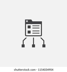 SiteMap icon. Logo element illustration. SiteMap symbol design from eCommerce collection. Simple SiteMap concept. Can be used in web and mobile.