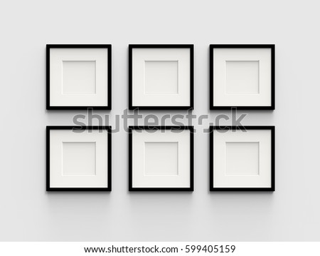 Six Blank Picture Frame Template Set Stock Illustration 599405159 ...