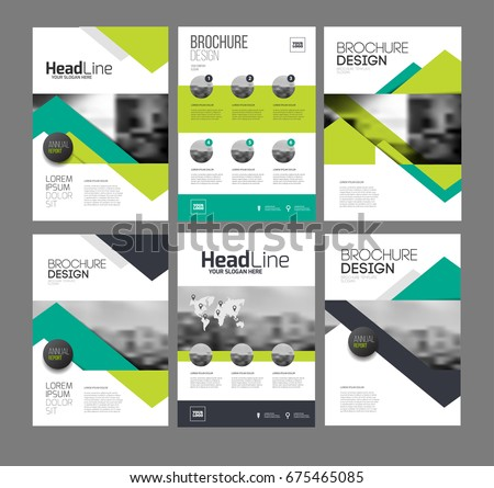 six front page back page template stock illustration 675465085