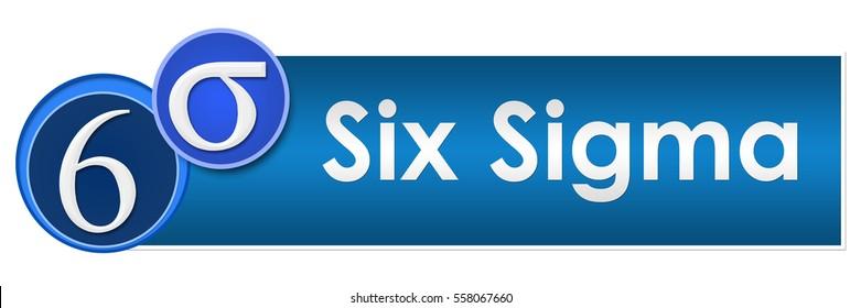 Six Sigma Two Blue Circles
