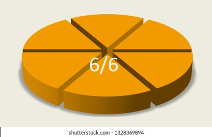 Six sixths pie chart