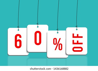 Sixty percent off sale, Discount 60 percent Off background illustration, Super Sale up to 40% concept,